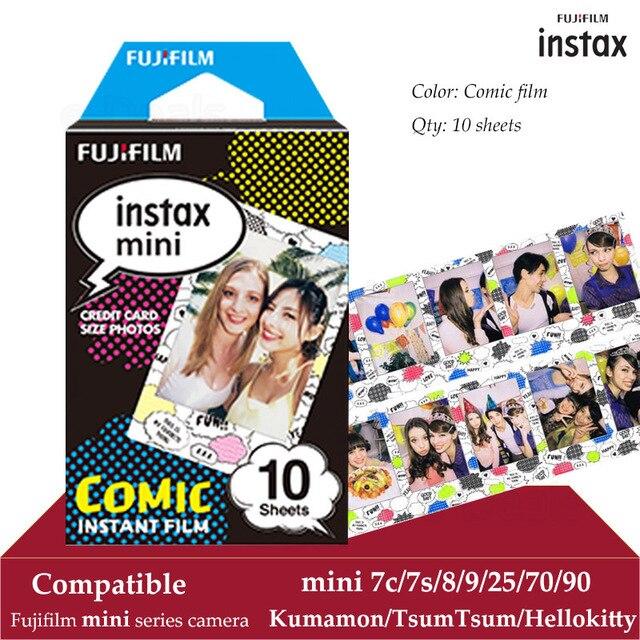 Fujifilm Instax מיני סרט קומיקס 10 גיליונות עבור Instax מיני 9 8 7 s 7c 70 90 25 מיידי Polariod מצלמה Smartphone מדפסת SP2 1