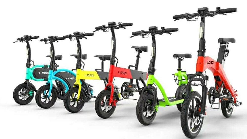Ordentlich 14 Zoll Smart Mini Falten Elektro-bike Für Erwachsene/36 V Klapp E Bike/batterie Powered Bikes Für Erwachsene Hell Und Durchscheinend Im Aussehen Sport & Unterhaltung