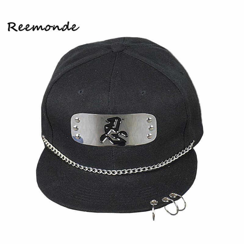 REEMONDE Naruto Baseball Cap Men Women Hip Hop Caps Spring Punk Hat Summer  Flat Iron Hoop 6313feeda8