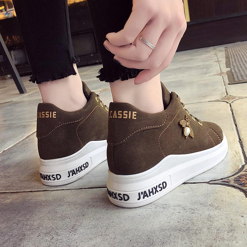 e5b1b4fae7d1 2019 Spring Luxury Brown Korean Platform Sneakers Women Casual Shoes Ladies  Sneakers Women Flat Shoes Femme Zapatillas Mujer