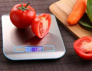 Kitchen Scale Cooking Measure Tools Stainless Steel Electronic Weight LED