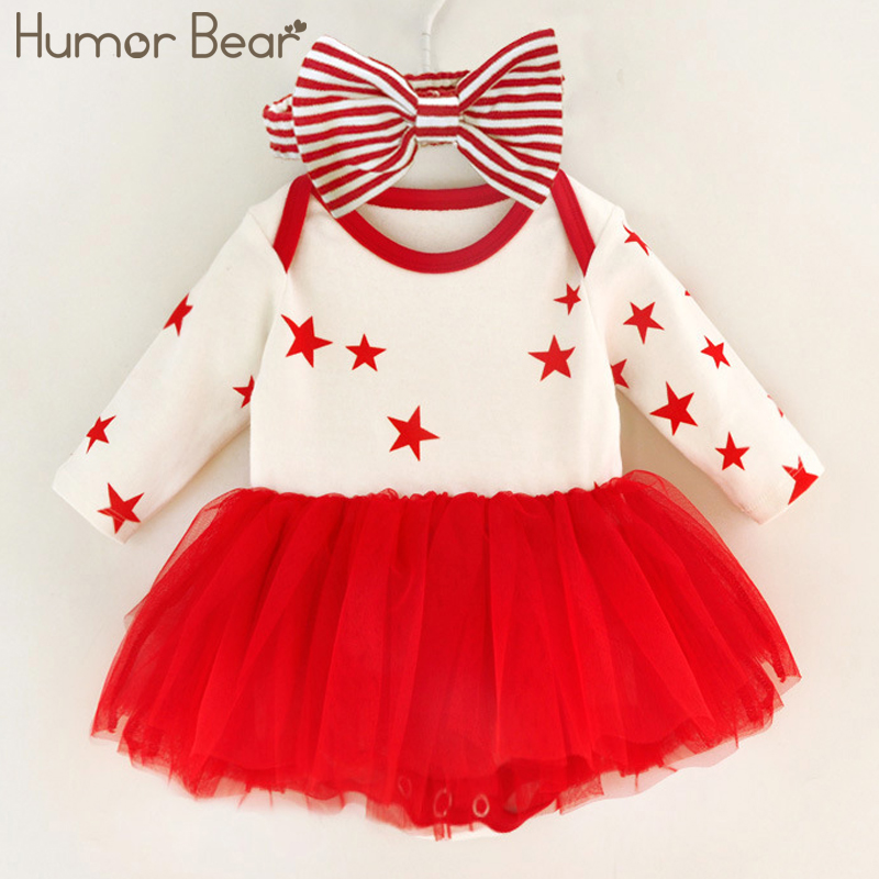 Humor Bear 2018 Baby Girl Dress Cake Dresses For Bow-tie Party Occasion Of Children 0- 8 months Girl Birthday Party