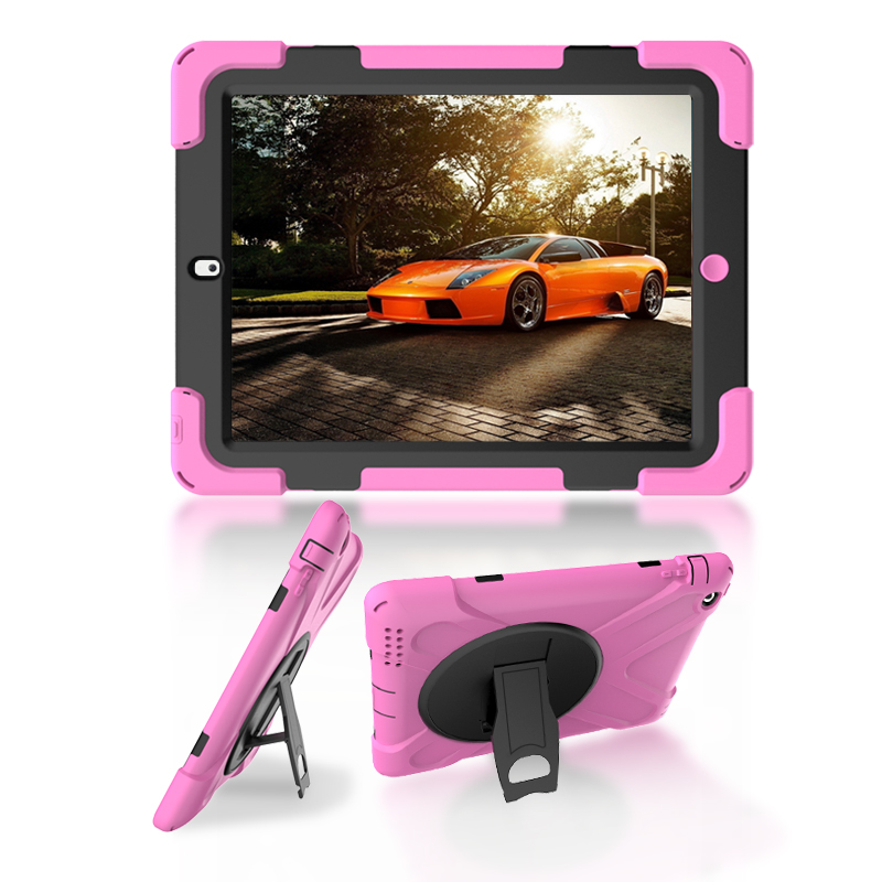 Case For Apple iPad 2 iPad3 iPad4 Kids Safe Armor Shockproof Heavy Duty Silicon + PC Stand Back Case Cover For ipad 3 ipad2 Case