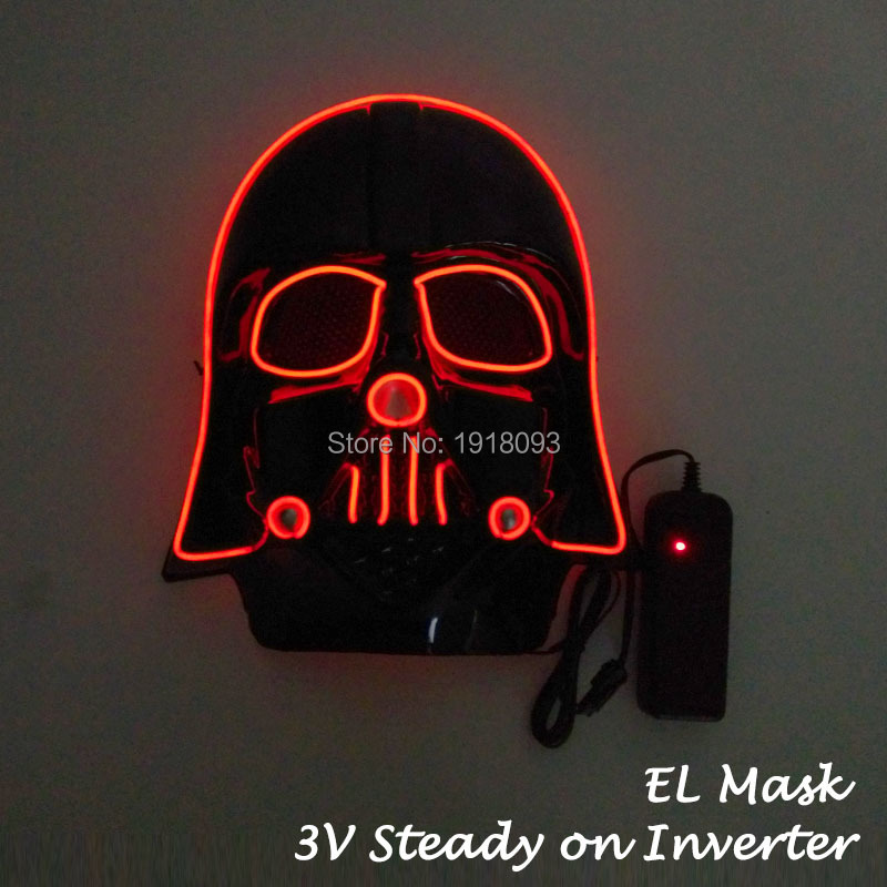 Hot Sales Star Wars Film Theme Mask Full Face Mask EL Wire Holiday Lighting Mask Carnival Party Mask image