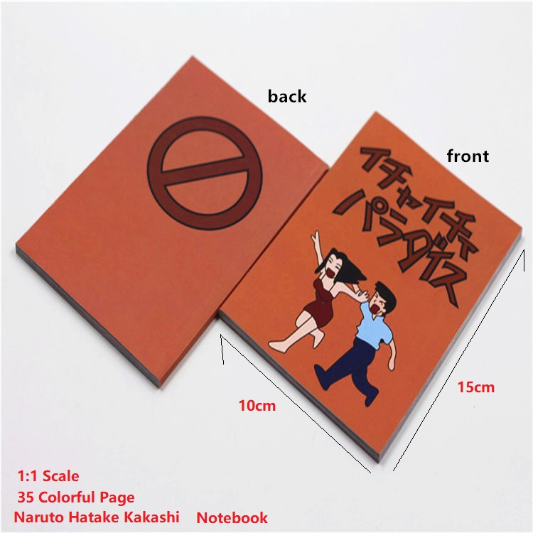 Anime Naruto Hatake Kakashi Comic Books Notebooks Cosplay Toys 1:1 Scale 35 Pages Collection Model image