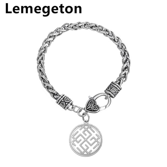 Lemegeton Slavic Amulet Symbols Pendant Bracelets Religious Jewelry Antique Silver Brands Fashion Charm Bracelet