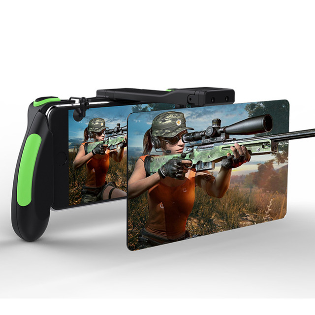 Smart Mobile Phone Stand Holder Gamepad Game Handle Artifact Double Mirror Screen Amplifier Controller Joystick Fire for PUBG