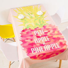 Modern European Style Coffee Table Cloth Linen Tablecloths Cover Towels  Thick Rectangular Antependium Decoration Pineapple
