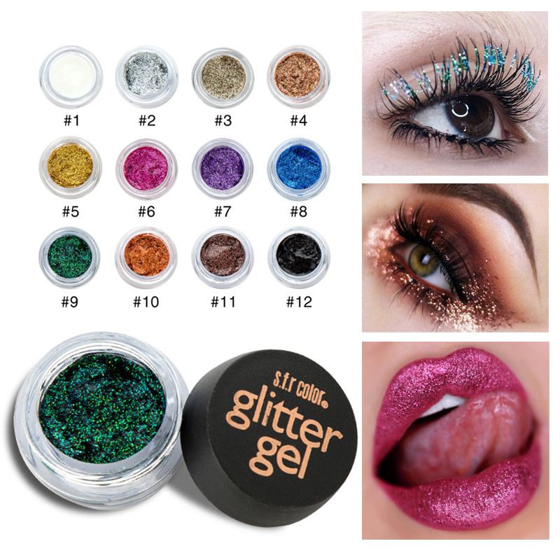 Eye Shadow S.f.r Color Diamond Glitter Eyeshadow Gel Cream Waterproof Long Lasting Gold Silver Blue Green Mermaid Metallic Eyeshadow Hf052 To Have Both The Quality Of Tenacity And Hardness Beauty & Health