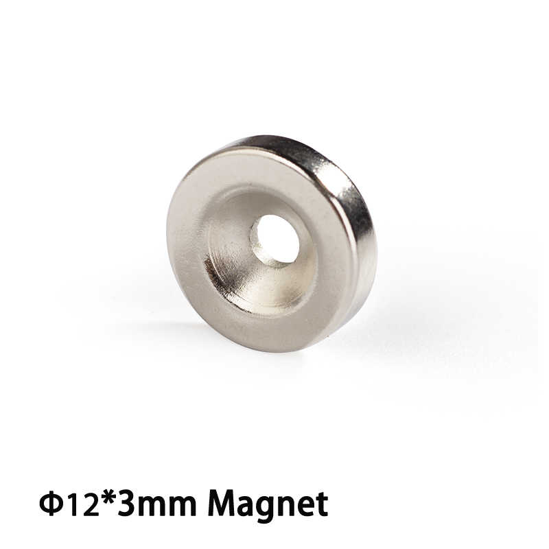 Master Magnetics Round Base Magnet Fastener with 3mm Center Hole Chrome Plate 12mm Diameter 3mm Thick