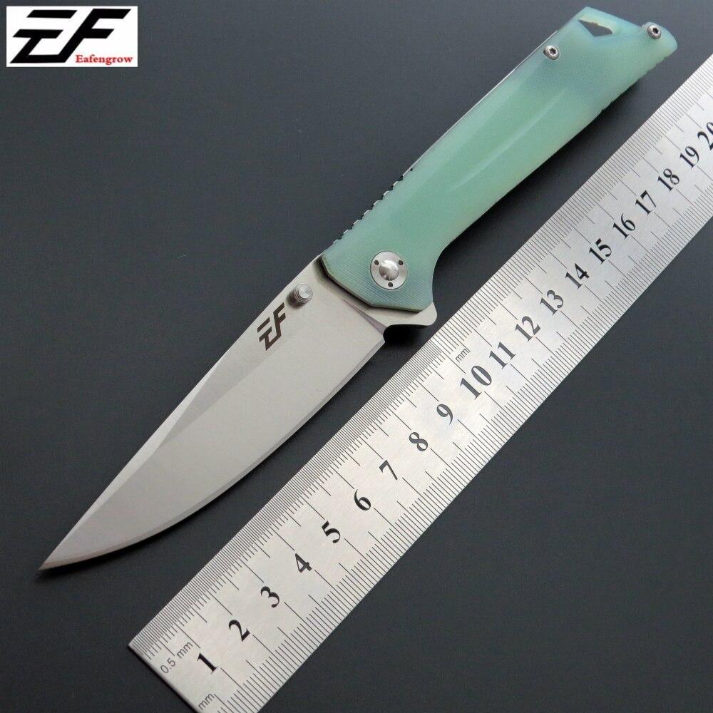 Eafengrow EF35 EDC outil de poche couteau pliant D2 lame roulement à billes + G10 poignée extérieure chasse camping couteau à fruits