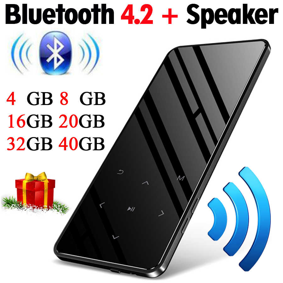 MP4 player with bluetooth lecteur mp3 mp4 music player portable mp 4 media slim 2.4 inch touch keys fm radio video Hifi 16GB