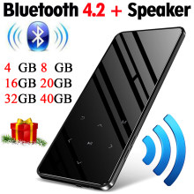 MP4 player with bluetooth lecteur mp3 mp4 music player portable mp 4 media slim 2.4 inch touch keys fm radio video Hifi 16GB(China)