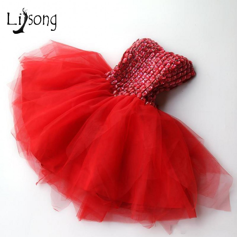 Sweet Red Crystal Tulle Short   Cocktail     Dresses   Off Shoulder Blush Pink Mini Formal Party   Dress   Prom Gowns Robe De   Cocktail
