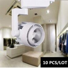 10PCS 3 years warranty COB led track light Rail Spotlights Led lamp 15W 20W 30W 36W Leds Tracking Fixture Spot Lights Reflectors