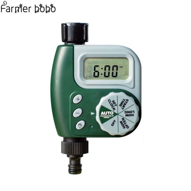 LCD Automatic Watering Garden Timer Hose Irrigation Sprinkler ...