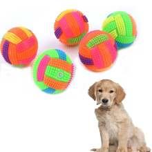 2019 собака эластичная вссветильник пищалка игрушки Спайк мяч