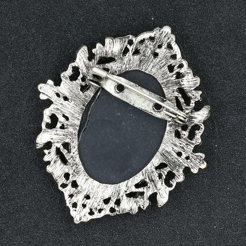 Baiduqiandu marka fabrika doğrudan satış çeşitli stilleri kristal Rhinestones Cameo Vintage broş Pins kadınlar için