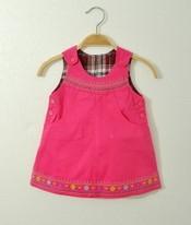 Novo bebê 6 M-36 M macacão jeans para crianças Meninas denim romper vestido Rosa com flor roupas livre grátis