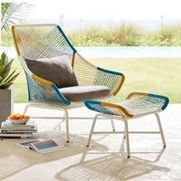 Уличный садовый диван стул из ротанга необычный стул ротанга диван для отдыха Подушка губка педаль уличная мебель