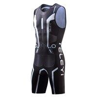 TELEYI Men Cycling Triathlon Suit sleeveless Bicycle Skinsuit Dress Male Bike Jersey Mallot Clothes Clothing Set Uniform Wear