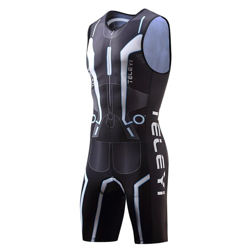 TELEYI hommes cyclisme Triathlon costume vélo Skinsuit robe homme vélo Maillot/Mallot Cycle vêtements/vêtements ensemble uniforme porter