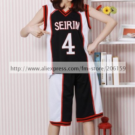 7ae31e801 Tienda Online Kuroko no basuke Boys Baloncesto camisa seirin no. 4 negro  Cosplay traje para la fiesta de Halloween