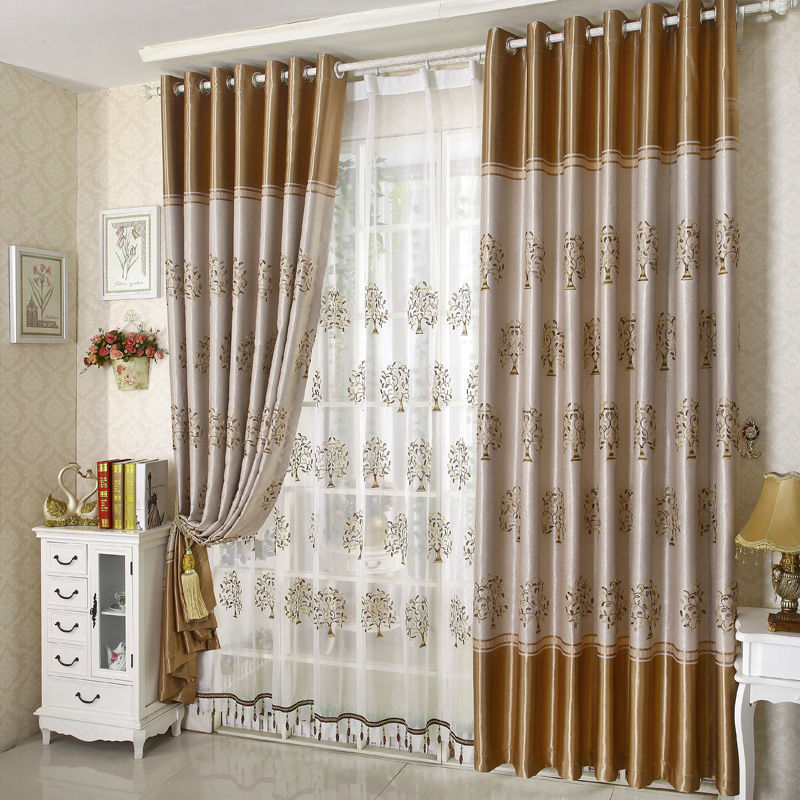 Latest Fashion Curtain Customize Screens Embroidered Drape Ready Made 145cm X 260cm Top 110 Inch For Custom In Curtains From Home Garden On
