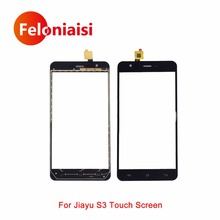 "High Quality 5.5"" For Jiayu S3 Touch Screen Digitizer Sensor Outer Glass Lens Panel Black White+Tracking Code"