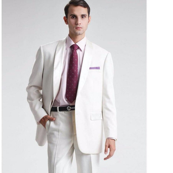 Ivory Men Wedding Suit two-Piece Formal occasion Groomsmen Tuxedos Business Prom mens Suits 2017 Jacket+Pants