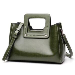 Image 3 - Винтажные женские сумки из натуральной кожи с широкими лямками, сумка через плечо, маленькая стильная дамская сумочка на ремне
