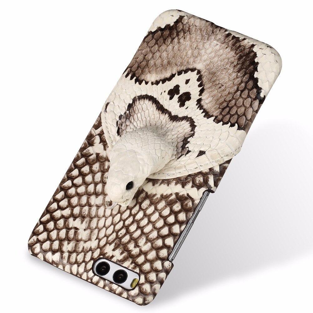 LANGSIDI marque coque de téléphone véritable tête de serpent couverture arrière coque de téléphone pour Xiao mi mi 6 Plus traitement personnalisé manuel complet