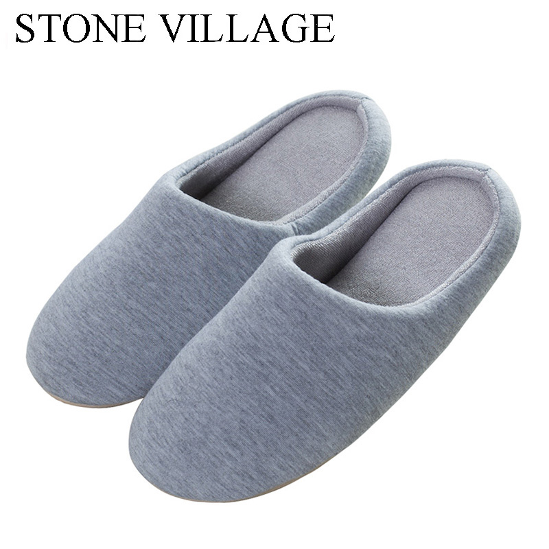 Large Size 45-46 Autumn And Winter Solid Sponge Soft Women Slippers Shoes Floor Non-Slip Men Slipper Silent Cotton Home Slippers dynarex cotton ball large non sterile 1000 count