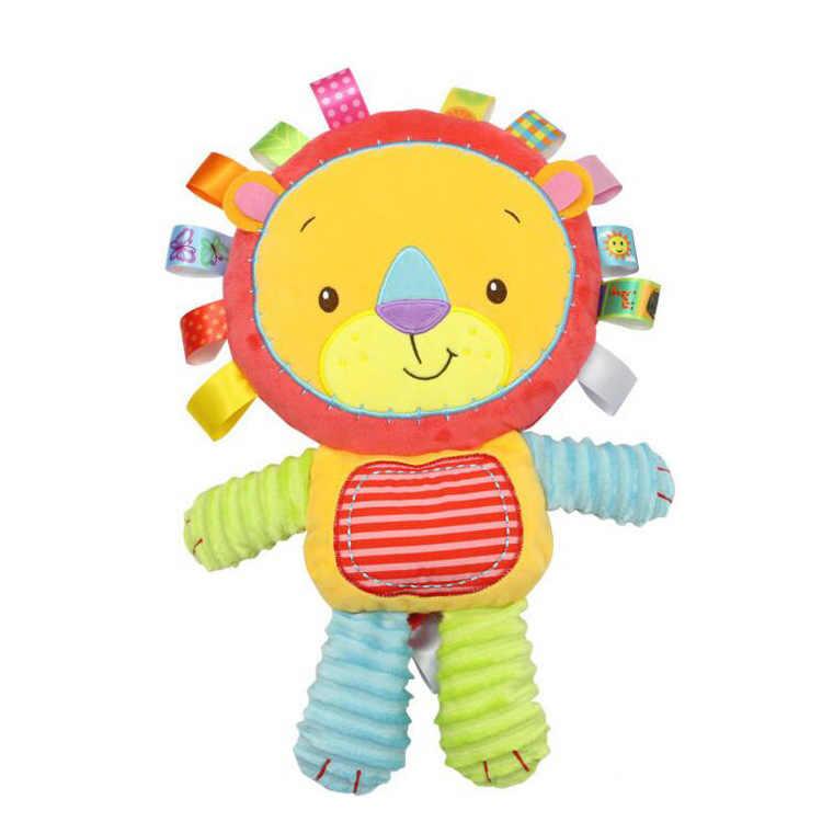 8 スタイルベビーおもちゃガラガラなだめる人形ぬいぐるみベビーガラガラおもちゃ動物の手の鐘 Newbron 動物ゾウ/サル/ ライオン/ウサギ