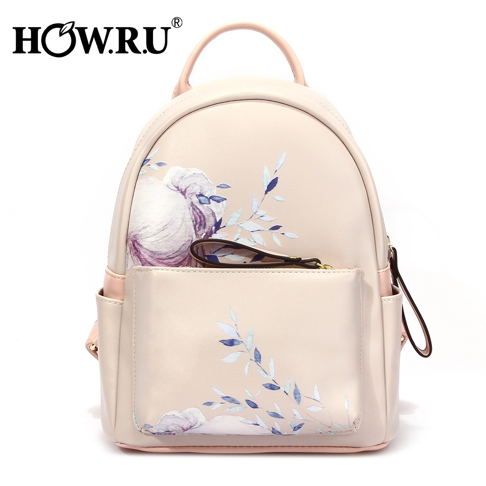 2019 Flower Print Women Leather Backpack Children Backpack Mini Women Cute School Backpacks for Teenage Girls Small Shoulder Bag2019 Flower Print Women Leather Backpack Children Backpack Mini Women Cute School Backpacks for Teenage Girls Small Shoulder Bag