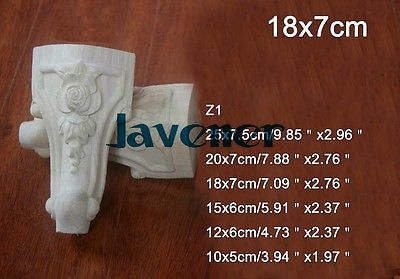 Z1 -18x7cm Wood Carved Onlay Applique Carpenter Decal Wood Working Carpenter Leg Flower