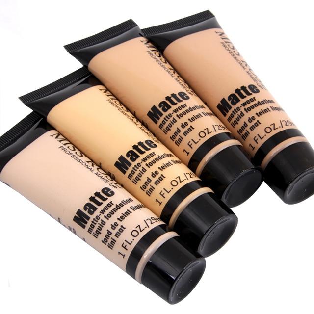 MISS ROSE Professional Base Matte Foundation Líquido Maquiagem À Prova D' Água Rosto Concealer Foundation Cosméticos Reparação Face Make Up