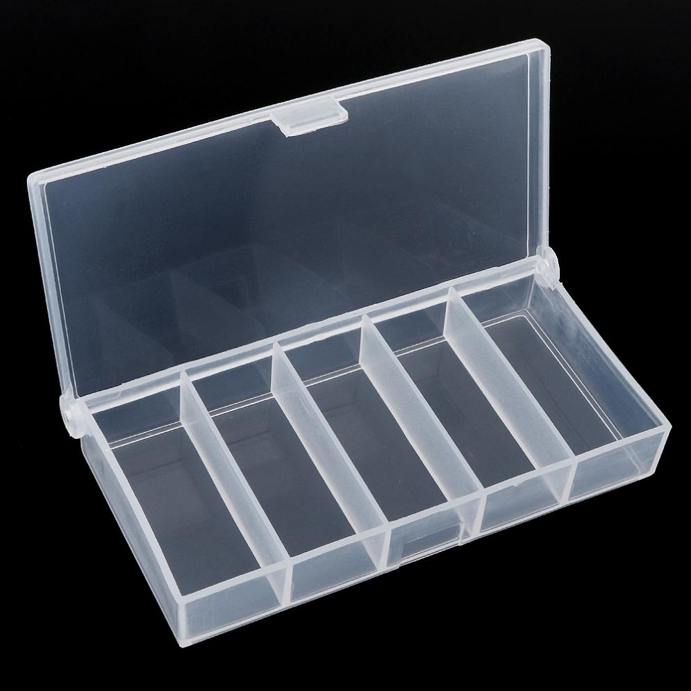 Fishing-Box Plastic Connector-Case Portable for Collection-Tools 5-Grid Transparent title=