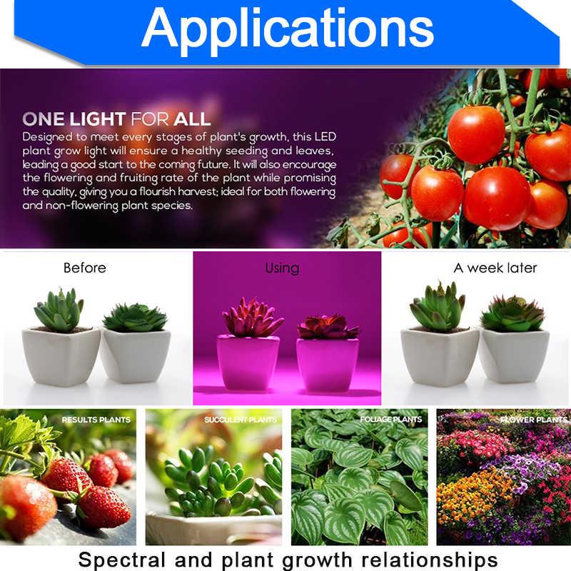LED Grow Light E27 Lampada LED Tumbuh Lampu Spektrum Penuh 4W 3W Indoor Tanaman Lampu IR UV Berbunga hidroponik