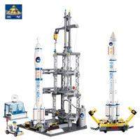 KAZI Models Building Toy Compatible With Lego K83001 822pcs Rocket Station Blocks Toys Hobbies For Boys