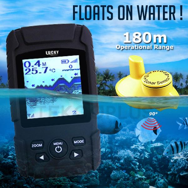 Prix pour FF-718LiW CHANCEUX Rechargeable Sans Fil Fish Finder Étanche Sondeur Moniteur Sonar Sensor Fish Alarme de Profondeur