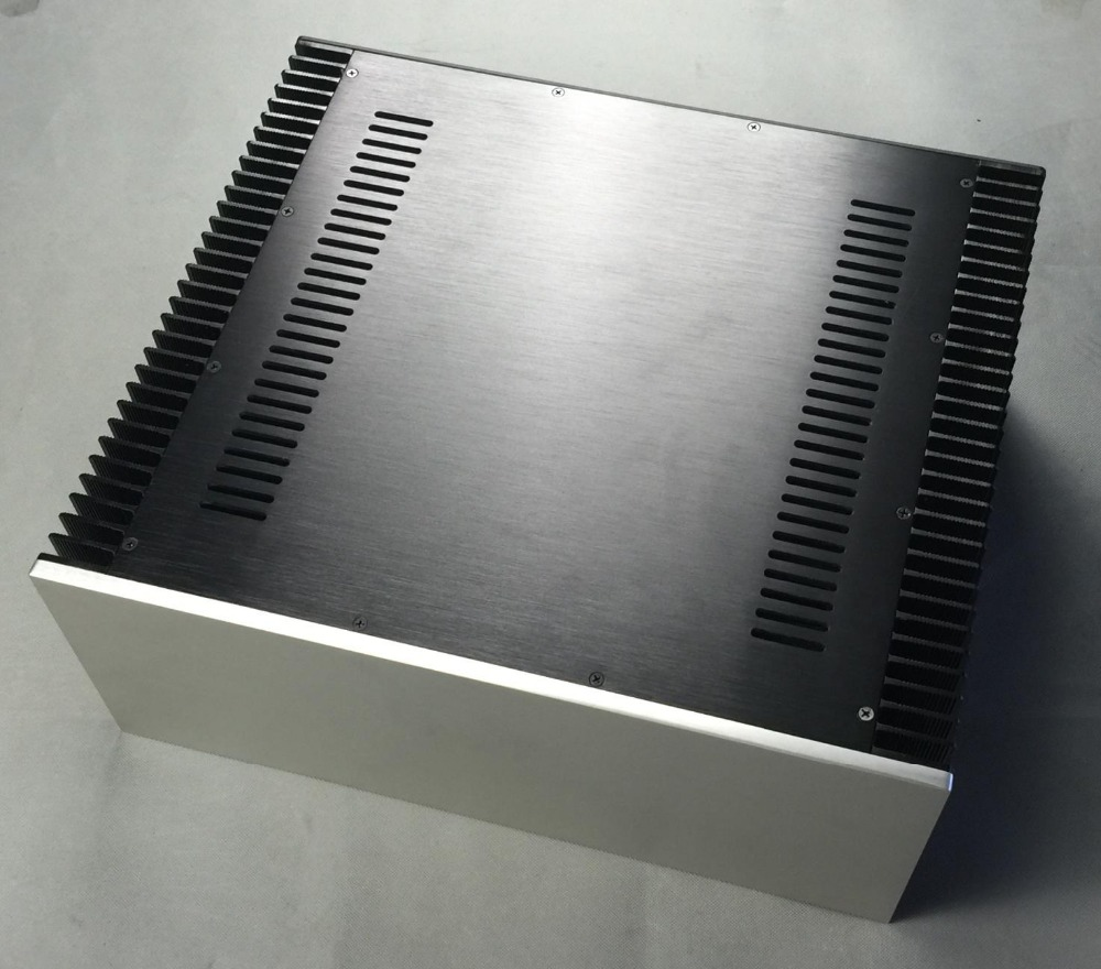 купить All Aluminum Class A Amplifiers Integrated Amplifier Chassis / AMP Shell / Case / DIY Box (430 * 120 * 411mm) по цене 8298.41 рублей