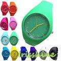 Irissshine #7020 Nova Silicone Relógios Unisex Doce Cor-mulheres Dos Homens do Relógio Dos Esportes Da Forma Ao Ar Livre