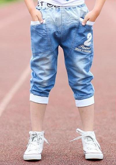 2018 summer boys clothes sport suit set fashion casual short sleeve O-neck children's clothing set 2 pieces T-Shirt + jeans