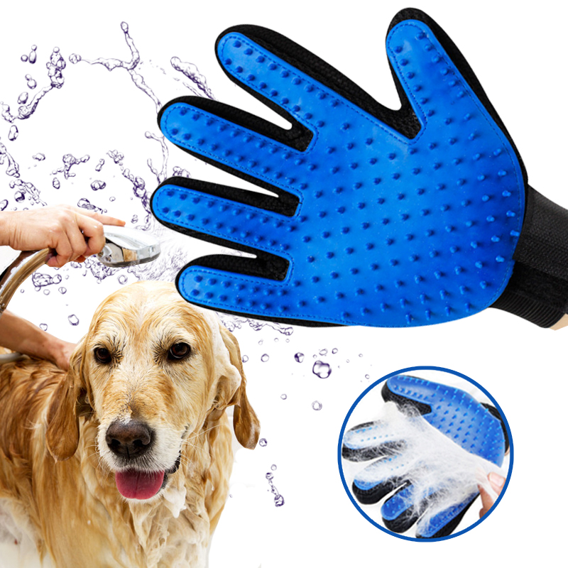 Silicone Pet Brush Glove Deshedding Gentle Efficient Grooming Cat Glove Supplies Pet Glove Dog Accessories Supplies