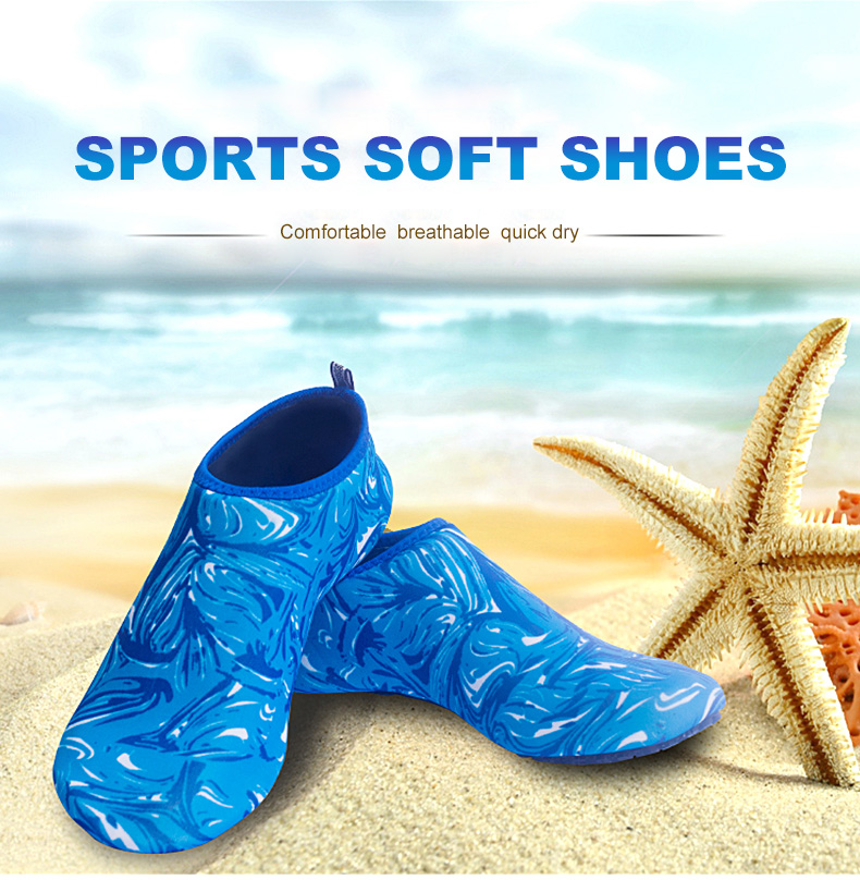 1 (1)Aqua Diving Socks Snorkel Suit Scuba Boot Water Swim Beach Wade Swim Shoes Sneakers Men Women Snorkeling Wading Shoe