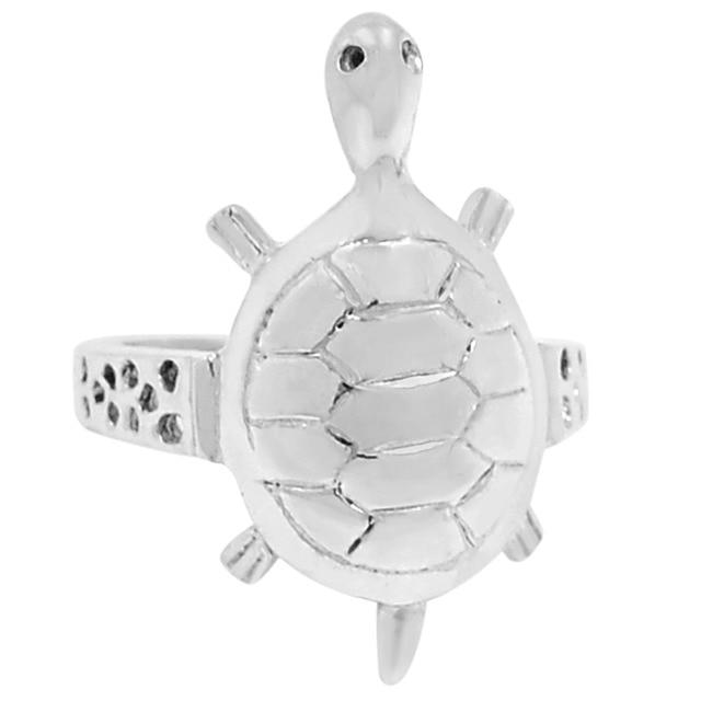guarantee plain 925 sterling silver tortoise ring 5 6 g