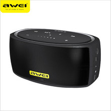 AWEI Y210 NFC mini portable bluetooth speaker desktop wireless with TF AUX usb connect two devices 2200mAh 6w