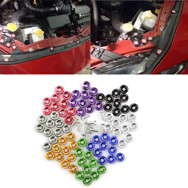 US $2 84 43% OFF|JDM Car Refitting M6 Pad Screws Accumulator Protection Pad  Nuts & Bolts Fender License Plate Screw Decoration-in Auto Fastener & Clip