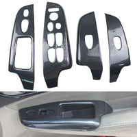 4pcs Set Carbon Fiber Color Door Window Lift Buttons Cover Trim For Honda Civic 2006 2011